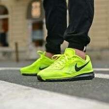 Nike Air Max 2014 Volt/Black 621077 700 Mens Running Shoes Trainers $180  NEW!