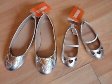 NWT GIRLS GYMBOREE SHOES SZ 4 BABY, 5, 13, 1 SILVER VALENTINES DAY 2015