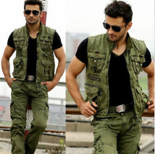 New Men's Military Multi Pockets Army Green Fishing Outdoor Vest