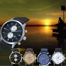2015 WHOLESALE LUXURY Mens Watch Waterproof Leather Military Casual Watch Gift