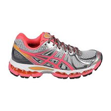 Asics Gel Nimbus 15 Womens Pink Yellow Synthetic Athletic Running Shoes