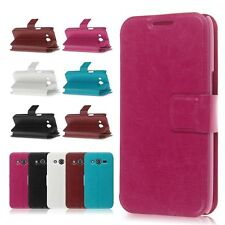 Leather Wallet Cover Case For Samsung Galaxy Core LTE G386F 4G G386W Avant G386T