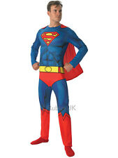 Adult Superman Party Outfit New Fancy Dress Costume Superhero Mens Gents