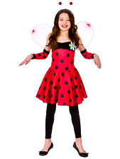 Child Lovely Ladybug Ladybird Girl Fancy Dress Costume Outfit Book Week Age 3-13