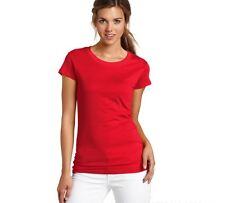 Wholesale Womens Pure Color Cotton Crew Neck Base T Shirt Top Blouse T-Shirt