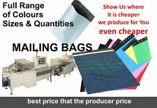 POLY  POSTAL BAGS QUALITY SELF SEAL COLORED PLASTIC MAILERS MAILING POSTAGE