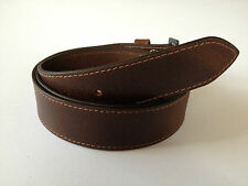 New Quality Genuine Leather Classic Vintage Distressed Snap On Belt - No Buckle