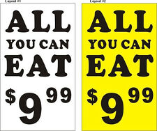 3ftX5ft Custom Customized ALL YOU CAN EAT Banner with Your Text