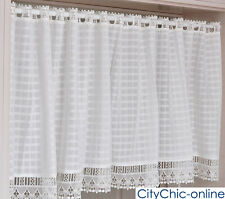 French Provincial Home Kitchen Lace Sheer Curtain Cafe Curtain Eyelet Top