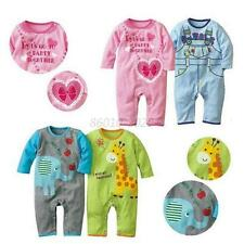 Kids Baby Boys Girls Long Sleeve Romper Outfits Jumpsuit Climbing Clothes 0-2 Y
