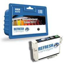 REMANUFACTURED (NON GENUINE) T0711 BLACK INK CARTRIDGE FOR EPSON STYLUS PRINTERS