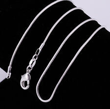 Wholesale Lots Silver Plated Silver Plated Snake Chain Necklace 16-24 Fashion
