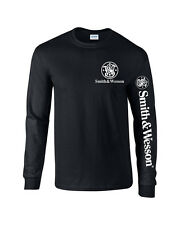 Smith And Wesson  T-Shirt Pro Gun Long Sleeve 2nd amendment Free Decal 2