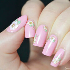 1Sheet Nail Art Water Decals Transfers Sticker Colored Rose Pattern