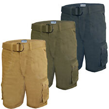Mens Cargo Shorts Brave Soul Ancotes Pants Knee Length Combats With FREE Belt