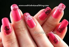 1 Sheet Rose Pattern Manicure Nail Art Water Decals Transfers Sticker DIY