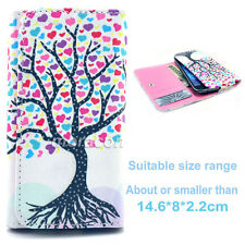 Universal Wallet T60 Card Purse Button Flip Case Cover For Many Phones+Stylus