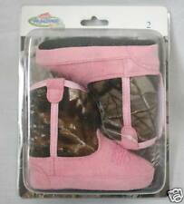 TEAM REALTREE BABY INFANT PINK CAMO COWBOY BOOTS