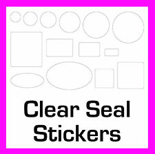 Transparent Clear Seal Stickers Sticky Labels Circles Rectangles Squares Ovals