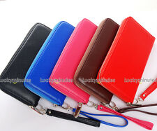 1PC Big Size Lady Men Zipper Around Long Wallet Checkbook Coin Bag Purse