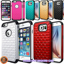 For Cell Phone Hybrid Diamond Armor Defender Protective Case Cover Most Model