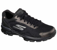 53981 Black Skechers Shoes Go Walk 3 Lace Men Mesh Sport Comfort Walking Sneaker