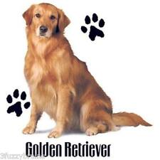Golden Retriever Puppy Dog With Paw Prints Graphic Logo White T Shirt