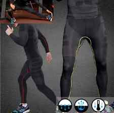 Mens Athletic Pants Compression Running Training Base Layers Skin Sports Tights