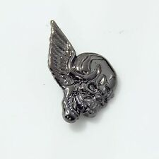 1-1/4' (3.2cm) Winged Skull Concho Right Face Western Concho Gunmetal