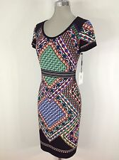 Calvin Klein NWT Multi Aztec Print Gorgeous Slimming Design Dress