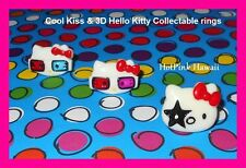 Hello Kitty KISS Collectible Rock Star Retro 3D Glasses Silver Ring+GIFT BOX USA