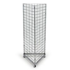New 3 Sided Mobile Chrome Mesh/ gridwall Display Unit