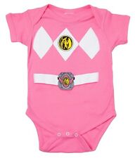 Mighty Morphin Power Rangers Baby Infant Costume Romper - Pink