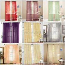 Hot 19 Color Door Window Curtain Drape Panel or Scarf Assorted Scarf Sheer Voile