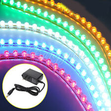 24/48/120 LED Neon Strip Aquarium Fish Tank Flexible Light Lamp + Power Adapter