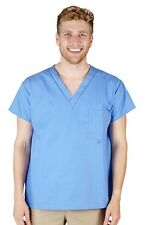 Unisex 1 Pocket Scrub Top Men&Women Natural Uniforms Scrub Top Free Shipping7768