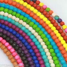 Natual Howlite Mixed Turquoise Round Loose Spacer Beads 4MM 6MM 8MM 10MM