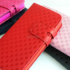 For Motorola Moto G Checker Hybrid PU Leather & TPU Flip Wallet Pouch Case Cover