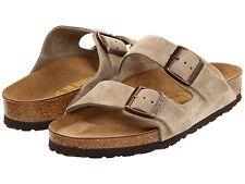 Birkenstock Womens ARIZONA Taupe Suede Sandals Shoes P5146