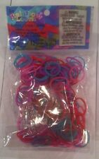 Authentic Rainbow Loom Silicone Rubber Bands - 300 Bands & 12 C-Clips