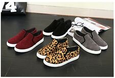 Korean Fashion Women's Loafer Leisure solid Slip-on Flats Causal Canvas Shoes