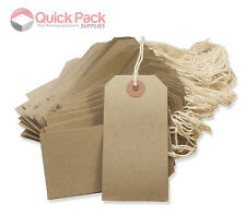 Strong Tie On Brown Manilla Strung Kraft Tags For Luggage Tickets String Buff