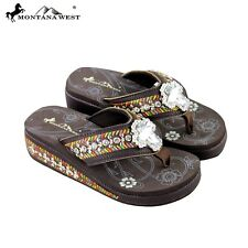 """""""Montana West Flip Flops"""" """"Embroidery"""" """"Bling Bling Collection"""" SE18-S008"""