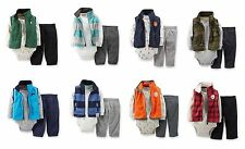 NEW NWT Boys Carter's 3 Piece Fleece Vest Set Newborn 3 6 9 12 24 Months