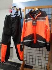 NOS Harley Davidson Mens Rainwear HI Visibility Orange Rainsuit 98275-08VM