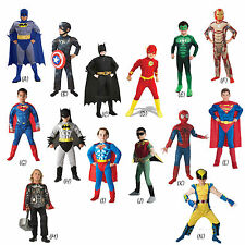 Deluxe Child Muscle Chest Boys Superhero Kids Fancy Dress New Book Week Costume