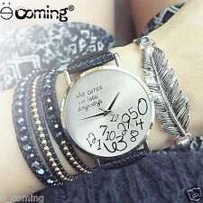 2015 STYLISH New Women Watches Leather Watch Letter Watches Black Watch Wholesal