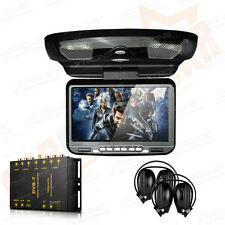 "XTRONS Car Roof Flip Down 9"" DVD Player Monitor Games Freeview DVB-T Digital TV"