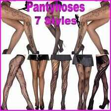 New Sexy Black Fashion Seamed Fishnet Pantyhose Bow Stockings Tights Seam (1)