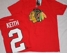 Chicago Blackhawks Duncan Keith Player Name and Number Shirt-Red